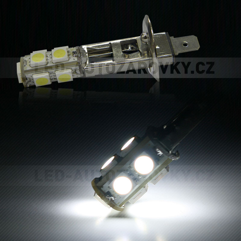 LED žárovka 12V s paticí H1, 9 SMD LED, 1ks