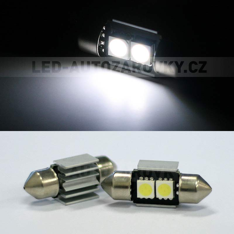 CAN-BUS sufitka bílá - Super Light, 2 SMD LED, 31mm, 1ks