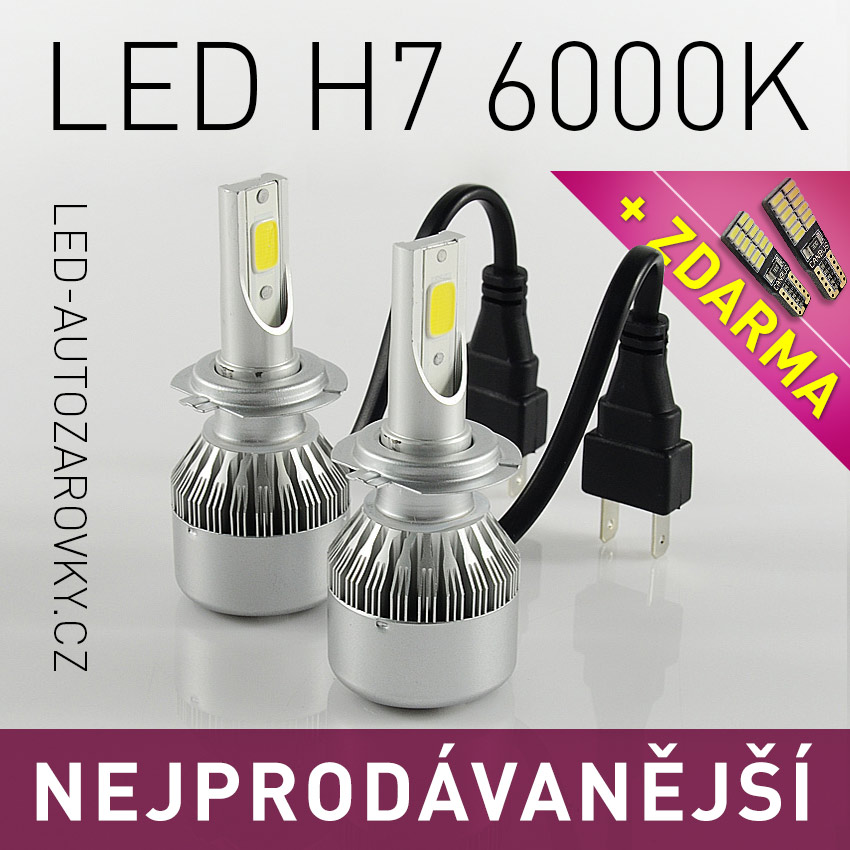 Výprodej - C6 LED headlight H7 6000k 36W/3800lm 12V/24V