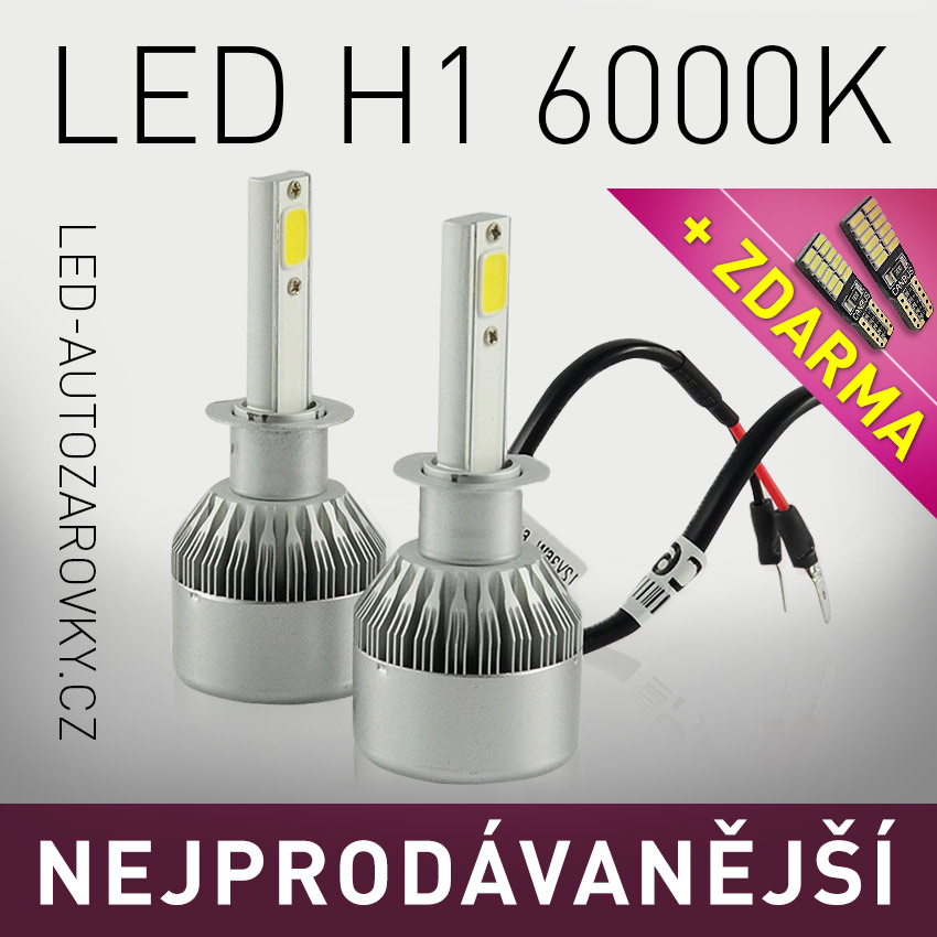 VÝPRODEJ - C6 LED HEADLIGHT H1 6000K 36W/3800LM 12V/24V
