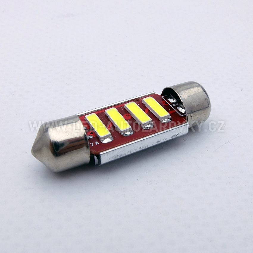 CAN-BUS sufitka bílá - Super Light, 4 SMD LED, 35mm, 1ks