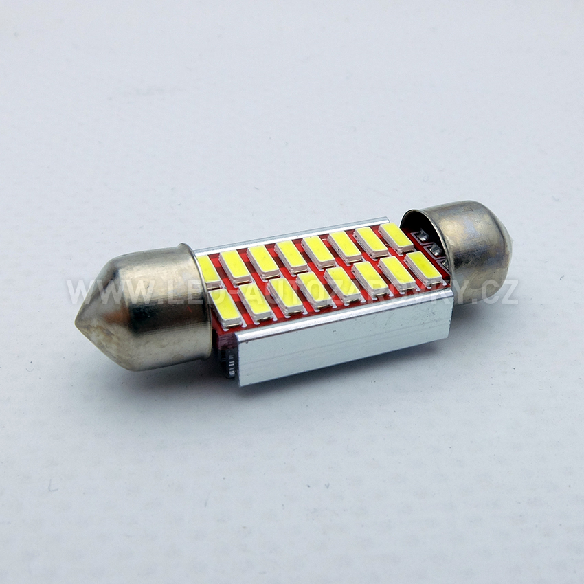 CAN-BUS sufitka bílá - Super Light, 16 SMD LED, 36mm, 1ks