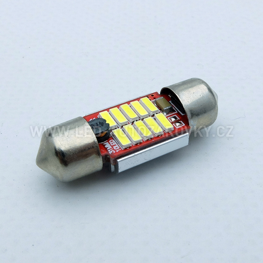 CAN-BUS sufitka bílá - Super Light, 10 SMD LED, 31mm, 1ks