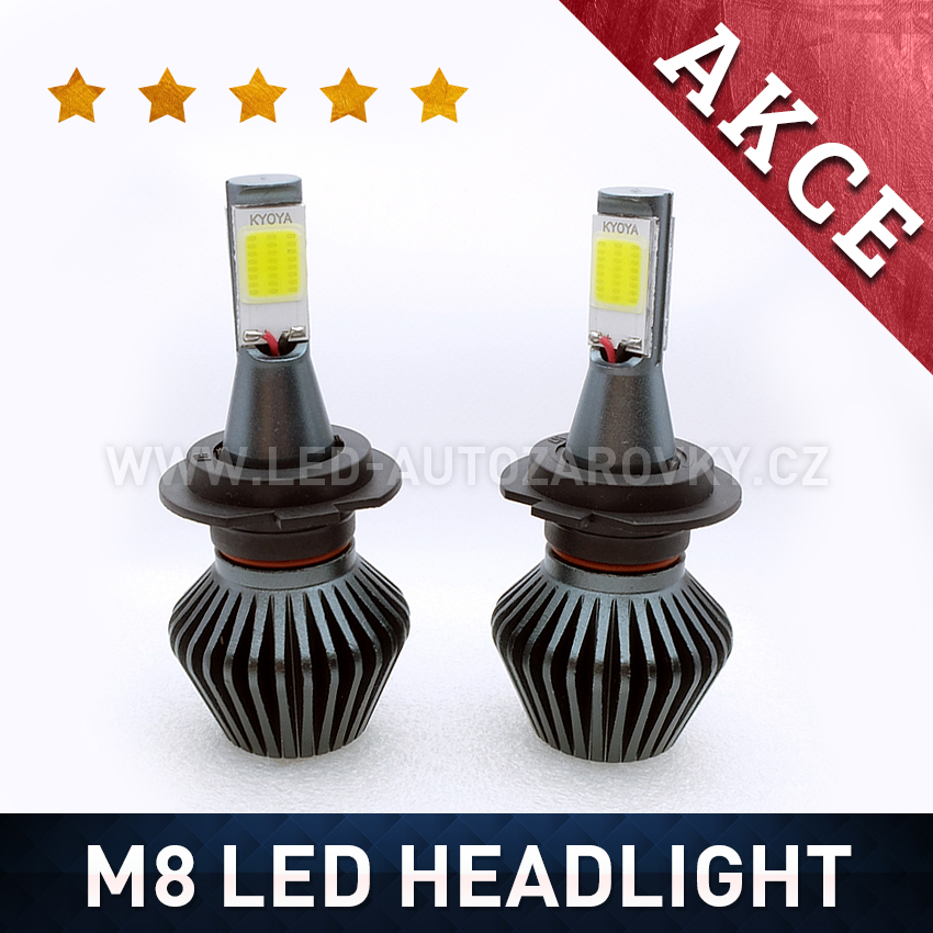 M8 LED HEADLIGHT H7 6000K 36W / 3800LM 12V/24V
