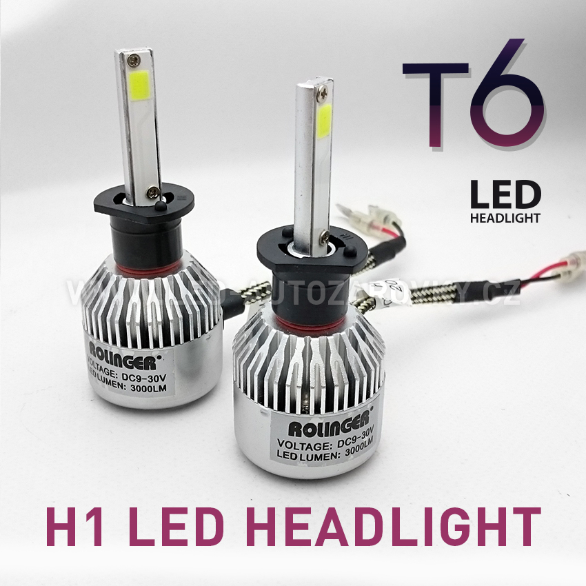 T6 LED HEADLIGHT H1 6000K 30W